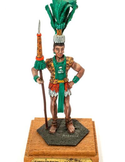 Guerriero della società del giaguaro (civiltà Maya XV sec.)