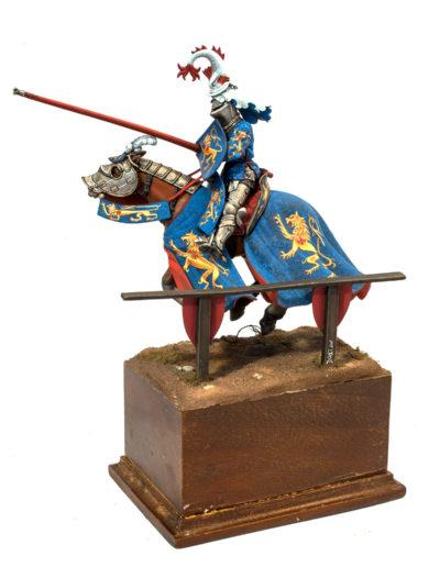 Cavaliere con armatura da toreneo