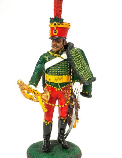 Impero austriaco - Trombettiere del 5° RGT Ussari in alta uniforme (1805)